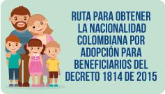 Ruta para obtener la nacionalidad colombiana  decreto 1814