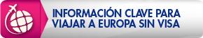Informacion clave para viajar a europa sin visa