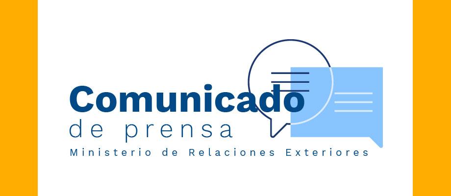 Comunicado del Ministerio de Relaciones Exteriores
