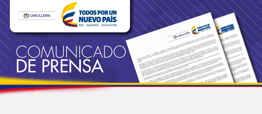 Comunicado de prensa del Ministerio de Relaciones Exteriores de Colombia sobre la decisión adoptada por el Tribunal Supremo de Justicia de la República Bolivariana de Venezuela