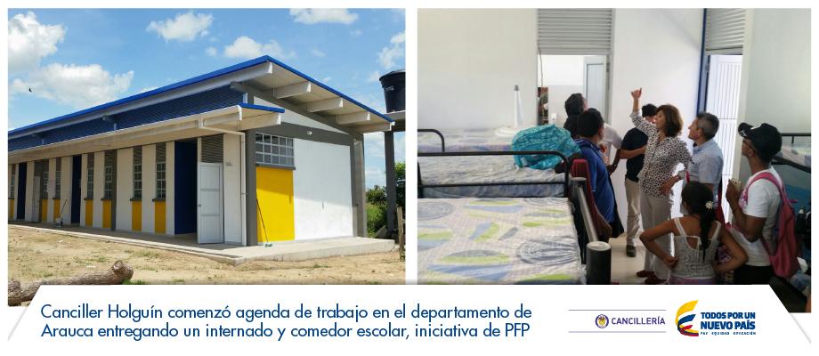 Canciller Holguín comenzó agenda de trabajo en el departamento de ...