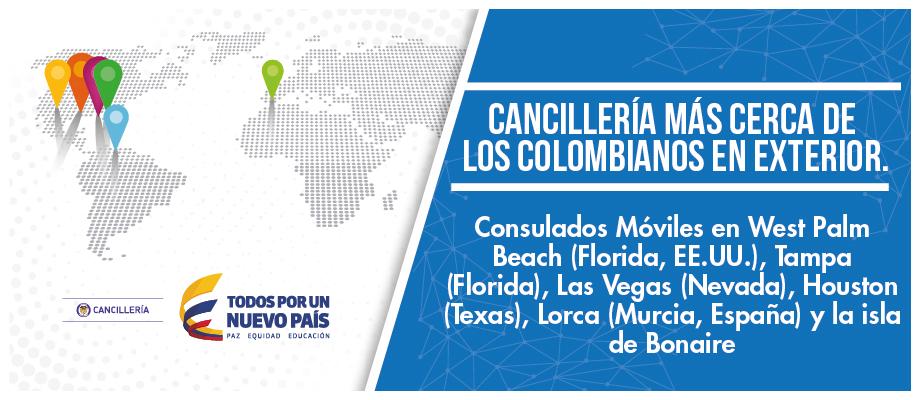 Cancillería más cerca de los colombianos en el exterior. Consulados ...