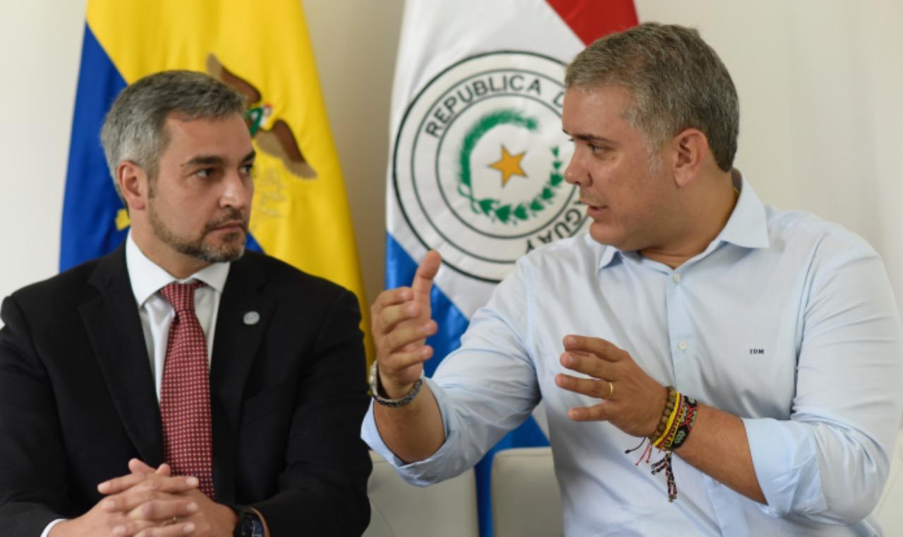 Presidente Iván Duque sostuvo una reunión bilateral con su homólogo de Paraguay, Mario Abdo Benítez, en Cúcuta | Cancillería
