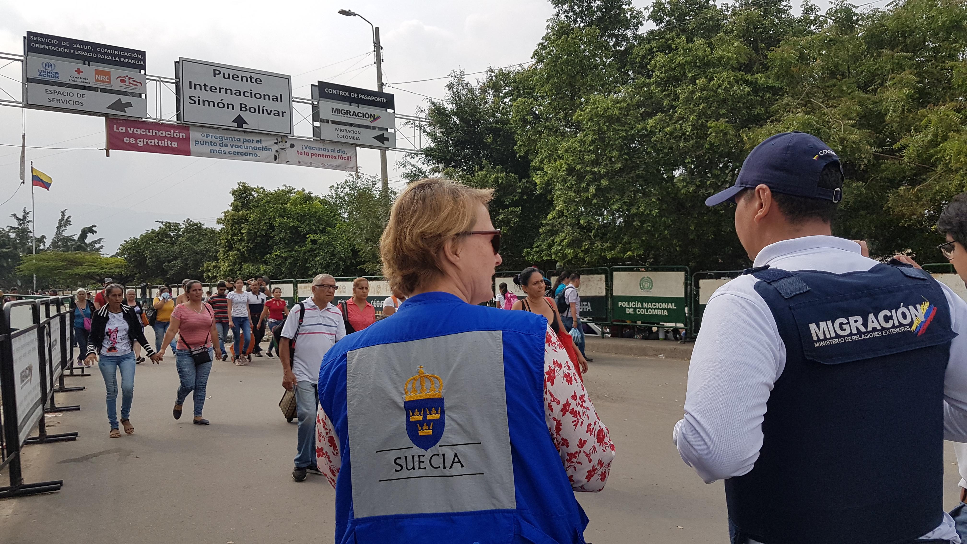Cancillería Y Oficial Del Programa De La Unidad Humanitaria De La Agencia Sueca De Cooperación Internacional Para El Desarrollo Evaluaron La Situación De Los Migrantes Venezolanos En Cúcuta Cancillería