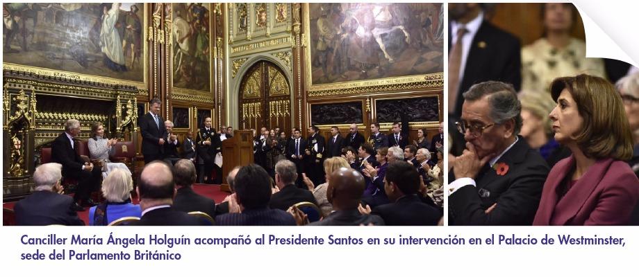Canciller mar a ngela holgu n acompa al presidente for Sede del parlamento