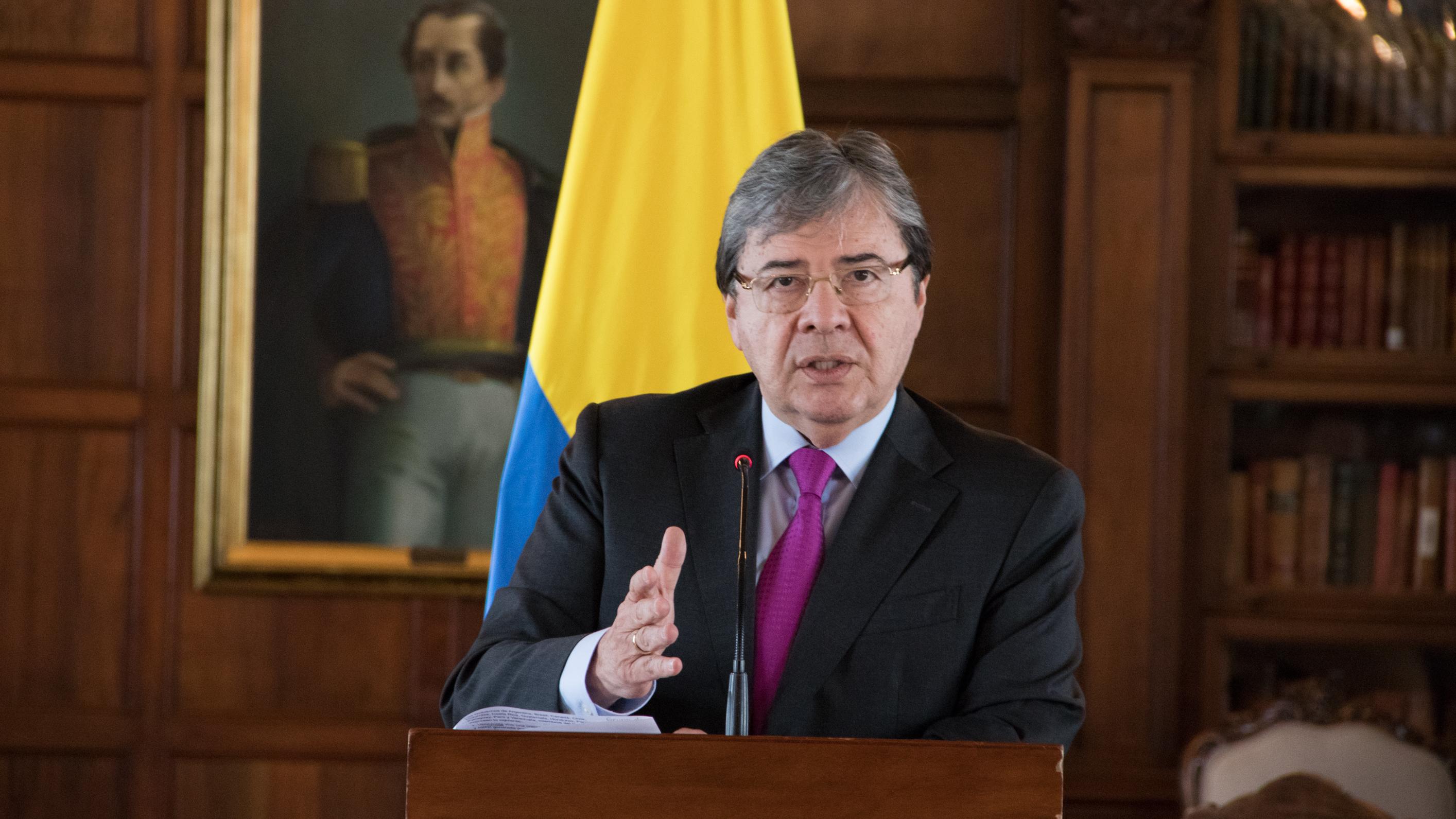 Canciller Carlos Holmes Trujillo reiteró el llamado del Grupo de ...