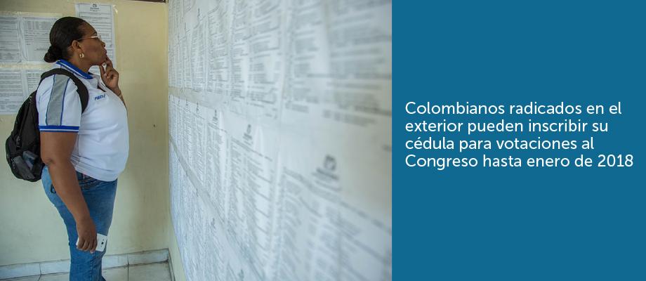 Colombianos Radicados En El Exterior Pueden Inscribir Su C Dula Para Votaciones Al Congreso
