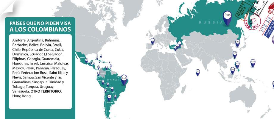 Lugares Que No Piden Visa Para Los Colombianos