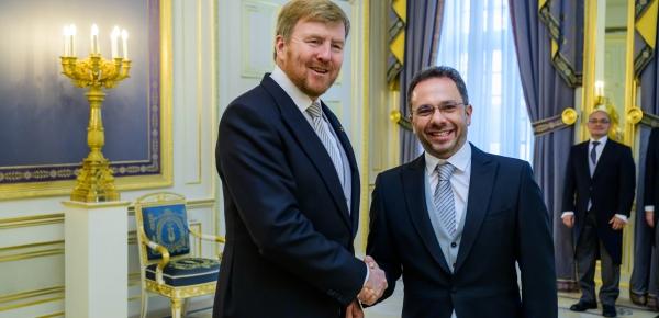 Embajador de Colombia ante el Reino de los Países Bajos presentó cartas credenciales a Su Majestad el Rey Guillermo Alejandro