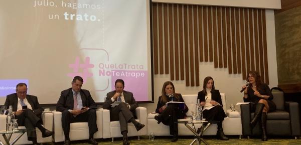 Cancillería participó en el foro 'Desafíos del Estado Colombiano en la lucha contra la Trata de Personas'
