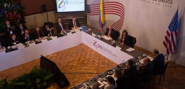VII Diálogo de Alto Nivel Colombia - EE.UU. es presidido por la Canciller Holguín, el Subsecretario de Estado para Asuntos Políticos, Thomas Shannon, y el Consejero de Seguridad Nacional Adjunto, General Waddell
