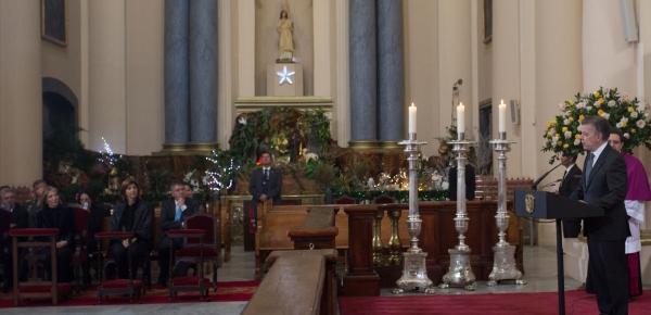 Canciller Holguín asistió a la ceremonia religiosa en memoria del Embajador Guillermo León Escobar Herrán