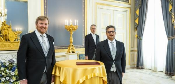 Fernando Antonio Grillo Rubiano, Embajador de Colombia ante el Reino de los Países Bajos presentó cartas credenciales ante el Rey Guillermo Alejandro