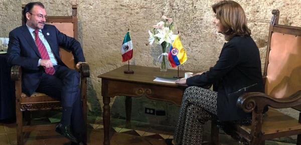 Cancilleres de Colombia y México se reunieron en el marco de la II Reunión de Ministros de Relaciones Exteriores de la XXVI Cumbre Iberoamericana