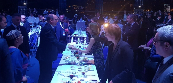 Viceministra de Relaciones Exteriores saludó al Príncipe Alberto de Mónaco, mecenas de los premios Peace and Sport, en los que Cancillería está nominada