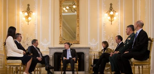 Presidente Juan Manuel Santos recibió las cartas credenciales del Embajador de Argentina en Colombia, Marcelo Stubrin