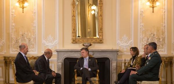 Viceministra de Relaciones Exteriores y Presidente Juan Manuel Santos recibieron las cartas credenciales del Embajador de la República Árabe de Egipto en Colombia