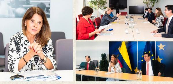 Los 10 temas de Colombia que la Vicepresidente y Canciller llevó a Bruselas