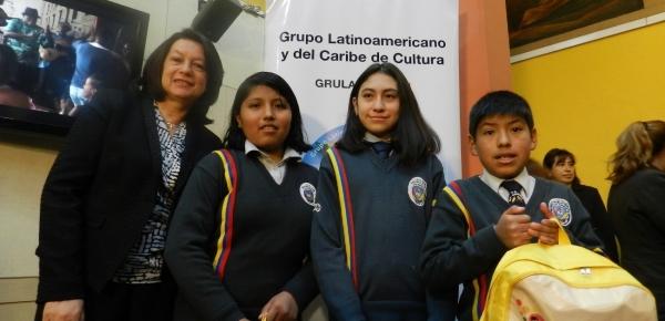 Embajada de Colombia en Bolivia premió a los ganadores del III Concurso Infantil sobre Patrimonio de la Humanidad en América Latina y el Caribe
