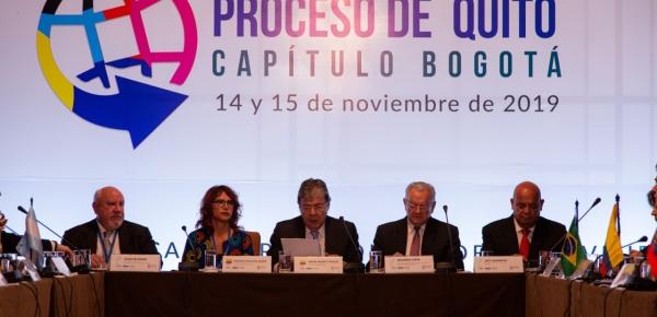 Al finalizar la V Reunión del Proceso de Quito en Bogotá, 11 países firmaron declaración