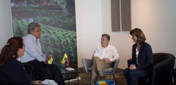Canciller María Ángela Holguín participó en la reunión bilateral de los Presidentes de Colombia y Ecuador