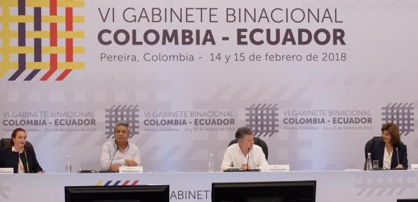 Colombia y Ecuador han mantenido una importante sinergia que presenta logros para el beneficio de sus ciudadanos