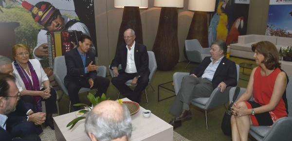 Reunión privada de los Presidentes de la Alianza del Pacífico en Cali