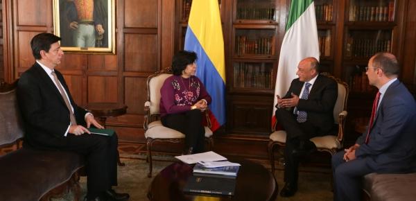 Nuevo Embajador de Italia en Colombia presentó copia de cartas credenciales ante la Canciller encargada, Luz Stella Jara Portilla