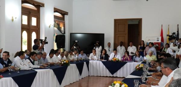 Canciller junto con Ministras de Comercio, Industria y Turismo, Trabajo y la Viceministra de Defensa se reunieron con autoridades locales y departamentales de Norte de Santander
