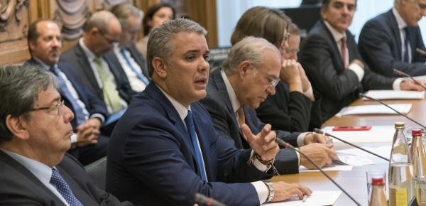 Canciller Carlos Holmes Trujillo acompañó al Presidente Iván Duque en reunión con la OCDE