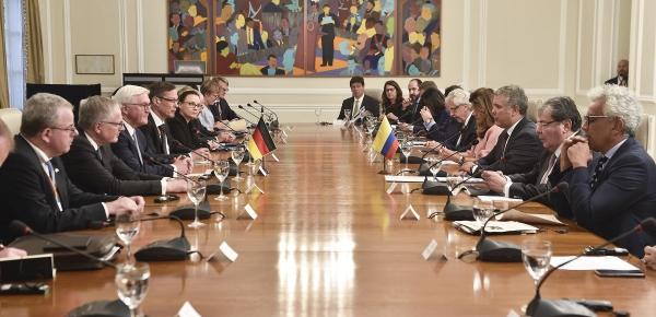 El jefe de Estado de Colombia, Iván Duque, y el Presidente de Alemania, Frank Walter Steinmeier, dialogaron sobre biodiversidad y el proceso de estabilización y convivencia pacífica en el país