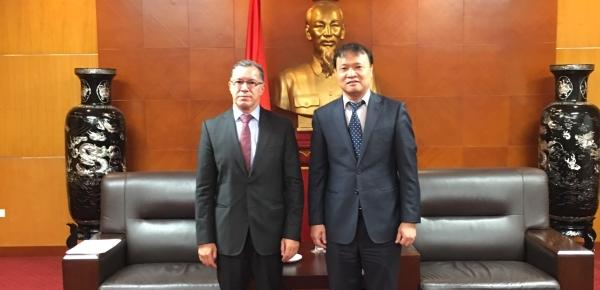 Embajador en Vietnam dialogó con Viceministro de Industria y Comercio del país asiático, sobre temas económicos de la relación bilateral con Colombia
