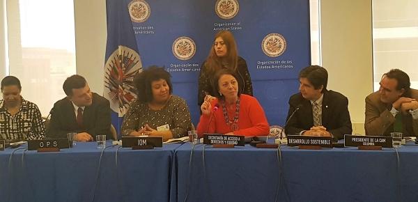 Presidencia de la Comisión de Asuntos Migratorios de la OEA realizó el segundo evento 'Cambio Climático, Seguridad Alimentaria y Migración'