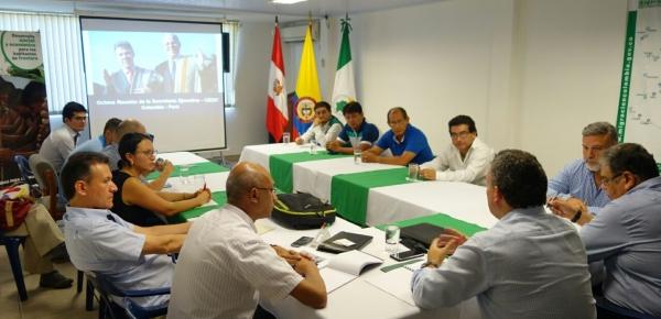 Director para Desarrollo y la Integración Fronteriza lideró la octava reunión de la Secretaría Ejecutiva de la Comisión Binacional para la Zona de Integración Fronteriza Colombia-Perú