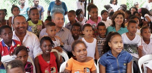 Ministra Holguín inauguró Casa Lúdica en Tumaco, ya son 12.000 jóvenes los que se benefician con estos espacios protectores construidos por la Cancillería en el país