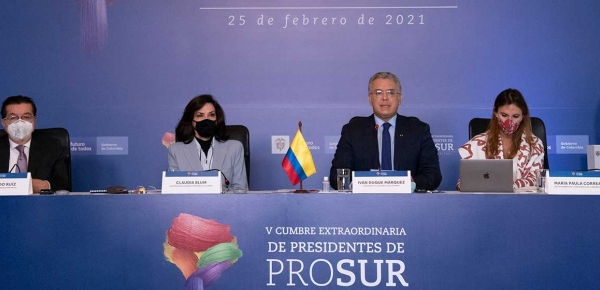 Desde Prosur, Presidente Duque pide a países productores de vacunas facilitar suministro y no restringir exportaciones