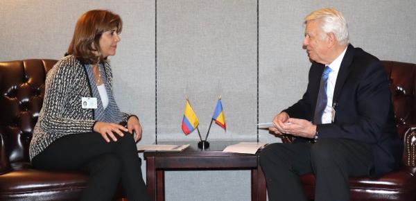 Ministros de Relaciones Exteriores de Colombia y Rumania sostuvieron reunión bilateral en Nueva York