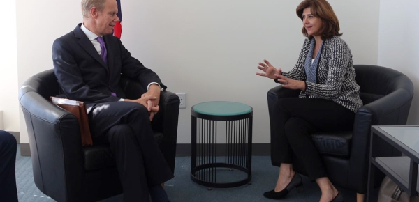 Representante Permanente del Reino Unido ante las Naciones Unidas sostuvo encuentro con la Ministra María Ángela Holguín