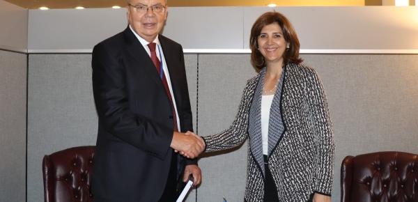 Canciller María Ángela Holguín se reunió con el Director Oficina de las Naciones Unidas contra la Droga y el Delito, Yury Fedotov