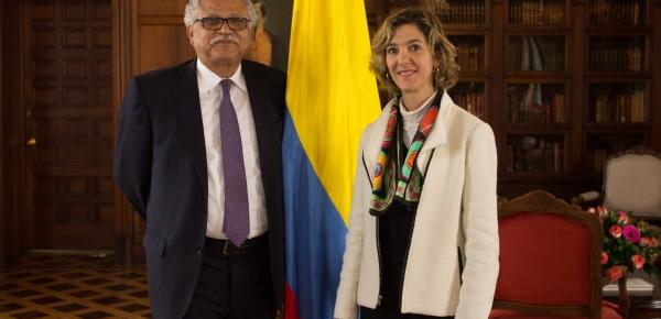 Viceministra de Relaciones Exteriores posesionó a Alfonso Múnera como Embajador de Colombia en Trinidad y Tobago