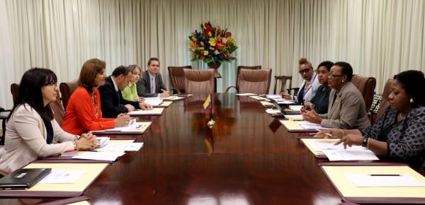Colombia y Barbados revisaron los temas de la agenda bilateral