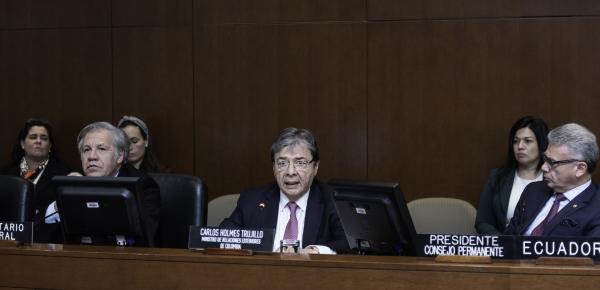 """Canciller agradeció """"el particular interés que la OEA ha puesto en la situación derivada de la crisis migratoria proveniente de Venezuela"""""""