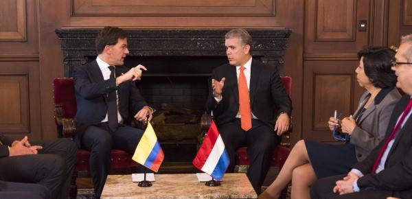Canciller encargada, Luz Stella Jara, acompañó al Presidente Iván Duque en el encuentro privado con el Primer Ministro de Países Bajos, Mark Rutte