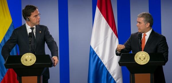 Presidente Duque felicitó al Primer Ministro de Países Bajos por llegar con una delegación numerosa de empresarios dispuestos a hacer inversiones y negocios
