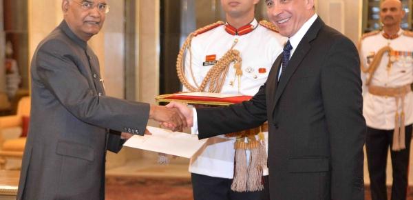 El Embajador de Colombia en Nueva Delhi, Álvaro Sandoval Bernal, presentó cartas credenciales ante el Presidente de la República de la India