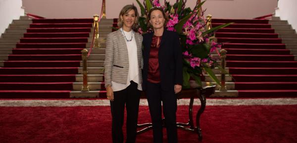 Viceministra de Relaciones Exteriores de Colombia recibió a su homóloga de Suiza en la Cancillería