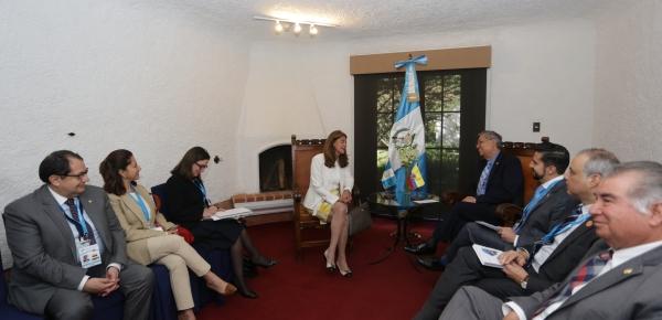 Vicepresidenta Marta Lucía Ramírez se reunió con su homólogo guatemalteco