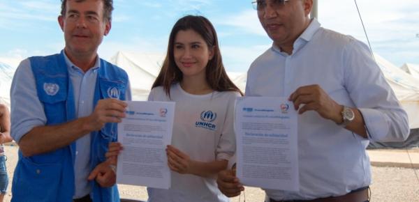 Embajadora asiática de Buena Voluntad del Acnur hizo un llamado a comunidad internacional para que se solidarice con la crisis humanitaria de los migrantes