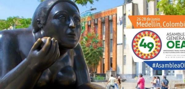 Conozca la programación de la 49 Asamblea General de la OEA que se realizará en Medellín entre el 26 y 28 de junio