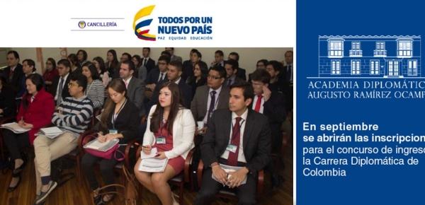 En septiembre se abrirán las inscripciones para el concurso de ingreso a la Carrera Diplomática de Colombia